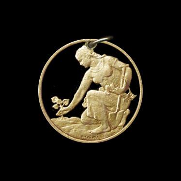 Ausgesägte Münzen Aus Der Tschechischen Republik Es Kommt Der Tag